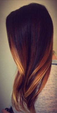 Hair ombre red