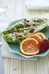 grilled romaine, blue cheese and bacon.