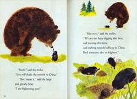 The Large and Growly Bear Illustrated by J.P. Miller Written by Gertrude Crampton Copyright 1961