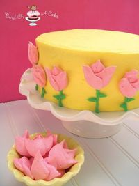Meringue Tulips Cake for Mother's Day...with tutorial!