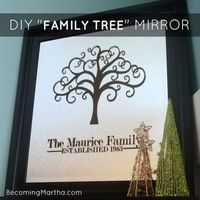 Becoming Martha: DIY Family Tree Mirror