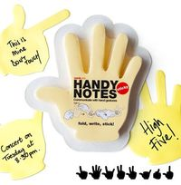 hand-shaped sticky notes - laser cut?