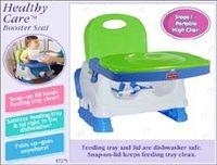 It's a booster seat with feeding tray from Fisher Price. Attaches to chairs or can sit on the floor. Tray is dishwasher safe.