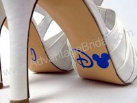 Custom Mouse Ears I Do Shoe Decals for Wedding Shoes - In Glitter or Gloss $8.95