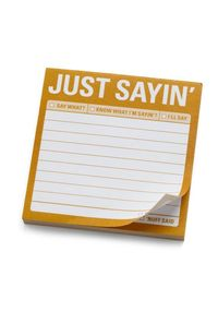 Just Sayin' Sticky Notes by Knock Knock - Yellow, Dorm Decor