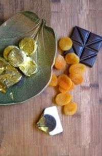chocolate dipped apricot gelt