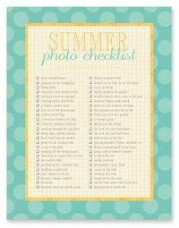 Capturing Real Life: printable photo checklists