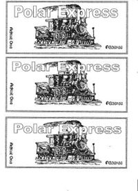 image regarding Printable Polar Express Ticket titled printable tickets! for a polar categorical night time! / Preschool