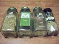 DIY Italian Seasoning Ingredients: 1 part basil, 1 part oregano, 1 part rosemary, 1 part thyme