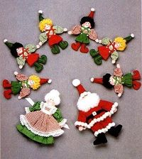 Santa and Elf dolls sewing pattern and tutorial