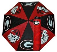 UGA Georgia Bulldogs Folding Umbrella