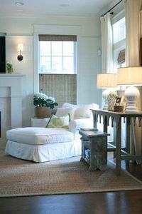 Via Marley and Lockyer {white rustic living room}