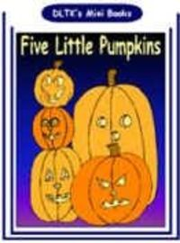 printable book for children five little pumpkins book to color - Dltk Printable Books