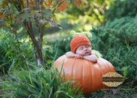 Crochet NEWBORN Pumpkin Hat Photography Prop