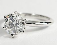 Classic Six Prong Engagement Ring in 18k White Gold #BlueNile #Engagement