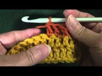 Front Post Double Crochet and Back Post Double Crochet tutorials