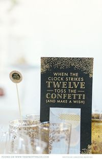 Washi Confetti sign & New Year's inspiration