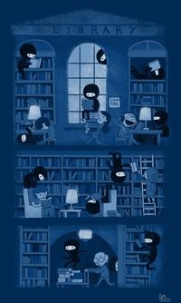 Ninjas are quiet in the library