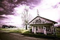 An old gas station: ...in Kent, OR