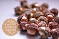 how to make gold acorns