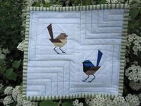 Beautiful paper peiced blue wrens