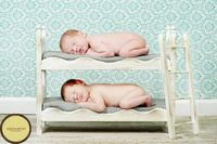 Small Whimsical Newborn Twins Photography Prop Posing Beds and Foam Mattresses - DIY Stackable Bunk Bed with Ladder. $84.00, via Etsy.