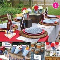 {Party of 5} Patriotic BBQ, Sugar & Spice, Top Chef, Hungry Caterpillar, & Vintage Travel Wedding