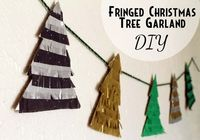 punk projects: Fringed Christmas Tree Garland DIY