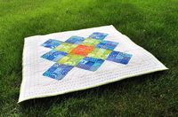 Diane {from blank pages...}'s gorgeous Giant Granny Square quilt