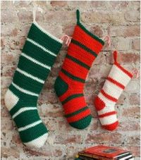 start crocheting christmas stockings early!