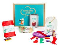 7 gift subscription box ideas for kids - Wonder Box is filled with preschool craft projects that help tech kindergarten skills.