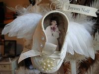 vintage baby shoe ornament by ArtJoyStuff