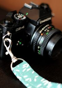 Make your own wrist strap for your camera.