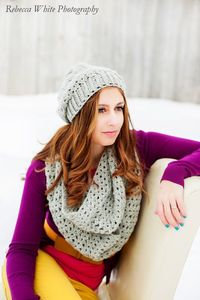 Slouch Hat and Infinity Scarf Pattern $ ~Living in Amethyst
