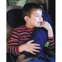 For taking naps when old enough for booster car seat - Kalencom Seat Belt Snoozer in Red / Navy Minky