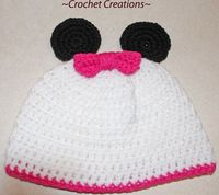 Crochet Creative Creations- Free Patterns and Instructions: minnie mouse hat