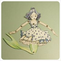 paper mermaid