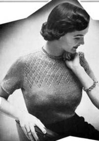 Vintage Twinkle Sweater Pattern: believe it or not, I remember this when it was making the rounds last time!