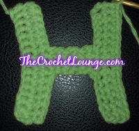 Free Crochet Pattern Letter B : Block Capital Letter H - Free Crochet Alphabet Applique ...