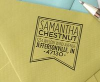 personalized custom wood handle address stamp by chattypress