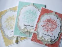 Blooming with Kindness, stamp background in white and emboss with clear.