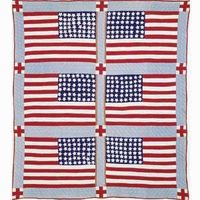 10¢ a Chance, a raffle quilt from Arkansas, 1942. Free vintage quilt pattern from McCall's Quilting.