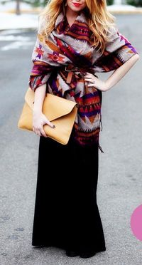 Tribal wrap with a black skirt