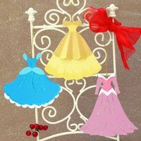 Disney Princess Gown Holiday Ornaments