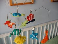 the anderson crew: made with love mondays: Changeable Mobil for baby crib or decoration