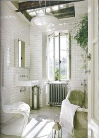 white with hints of green