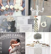 Grey Wedding Inspiration - Grey Bridesmaid Dress, Grey Wedding Cake, Grey Wedding invitations, Grey Wedding Decor