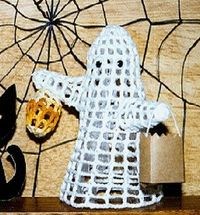 stiffened crochet ghost