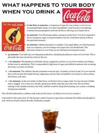 What happens when you drink soda?