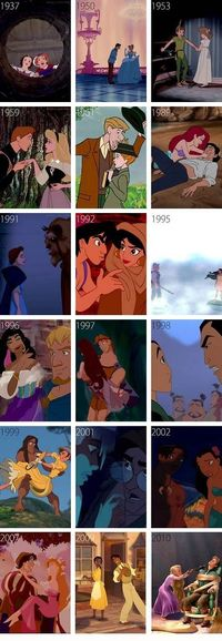 Disney Couples' Introductions Over the Years - Click image to find more Film, Music & Books Pinterest pins